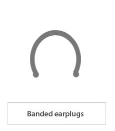Banded earplugs