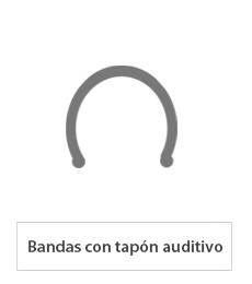 Bandas con tapón auditivo