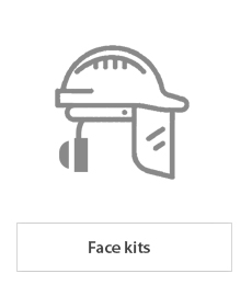 Face kits with helmet