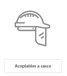 pantallas faciales acoplables a casco